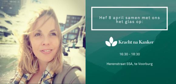 UItnodiging launchreceptie Kracht na Kanker 8 april 2020 16:30 Herenstraat 55A, Voorburg